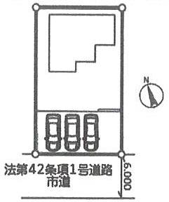 【区画図】潮来市宮前二丁目 新築戸建