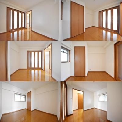 洋室、それぞれの角度からの写真です。