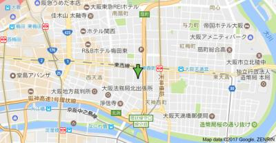 【地図】マインズコート西天満