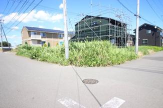 【外観】つくば市みどりの東 南西角地 売地 敷地面積103.72㎡(31.37坪)