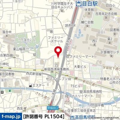 【地図】エクセレントシティ目白