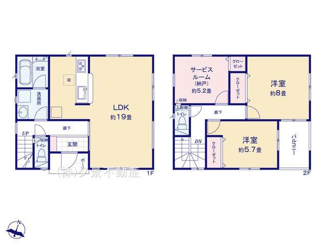 【区画図】桜区町谷2丁目513-5(1号棟)新築一戸建てクレイドルガーデン