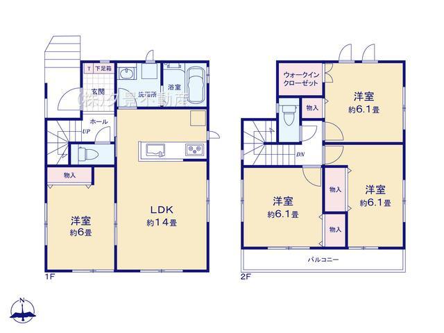 川口市大字木曽呂350-7(E号棟)新築一戸建て