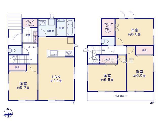 川口市大字木曽呂350-7(D号棟)新築一戸建て