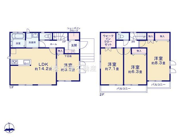 川口市大字木曽呂350-7(B号棟)新築一戸建て