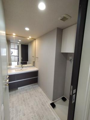 ゆとりの洗面室は収納がたくさんあり広く使えます。