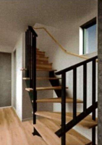 リビングイン階段のイメージ画像です。スケルトンのおかげで広さを演出できます。