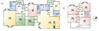 7LLDDKKの2世帯住宅。浴室・洗面・玄関が1階にそれぞれ2つあります!