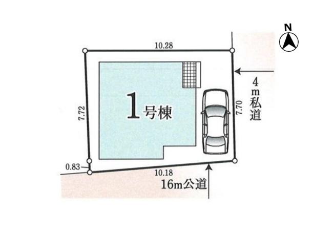 【区画図】小平市小川西町5丁目 新築戸建