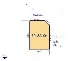 17区画:土地面積110.02m2、お好きな工務店で建築可能