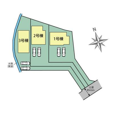 【外観】明石市大久保町西島 新築一戸建て 3区画分譲