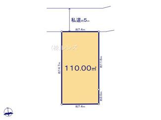 20区画:土地面積110.00m2、お好きな工務店で建築可能