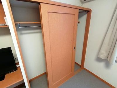 クローゼット、収納棚、ベッド下収納あり。
