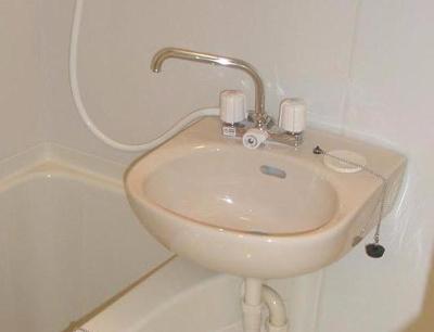 バスルームには洗面台がございます