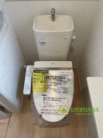 温水洗浄便座付きトイレです♪