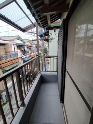 3階バルコニー:東向きで陽当たり良好です◎