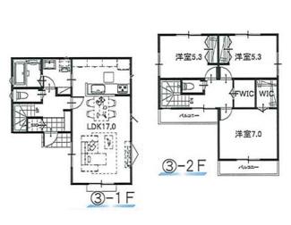 ③参考:延床面積87.48平米、建物価格1,310万円