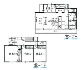⑧参考:延床面積87.48平米、建物価格1,310万円