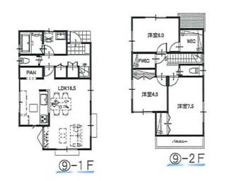 ⑨参考:延床面積87.48平米、建物価格1,310万円