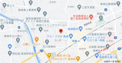 【地図】芥川2丁目貸家
