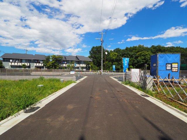 【前面道路含む現地写真】新築戸建て