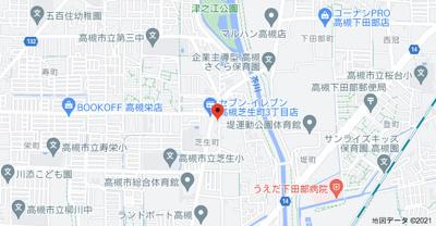 【地図】芝生町一丁目平屋貸家 (株)Roots