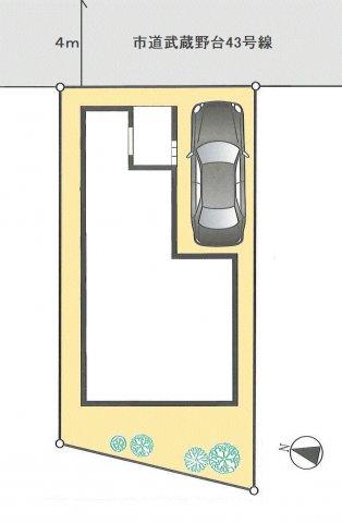 【区画図】福生市武蔵野台2丁目 新築戸建全1棟
