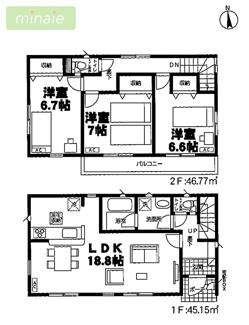 制震装置設置住宅 八千代市大和田新田 全2棟 1号棟