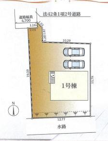 【区画図】平塚市山下第8 新築戸建 1号棟