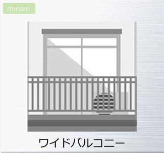 【バルコニー】WIC 納戸 八千代市大和田新田第28 全2棟 2号棟