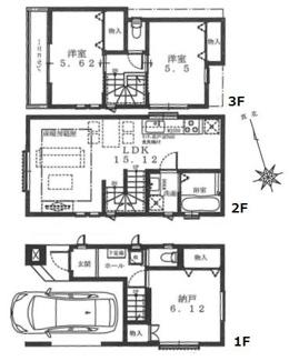 1号棟:全室2面採光。ハイクラス仕様の上質なお住まいです。