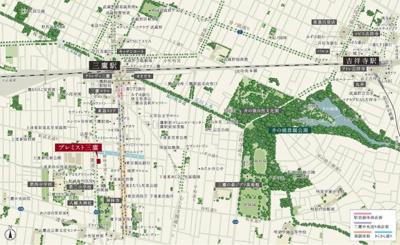 【地図】A261 プレミスト三鷹