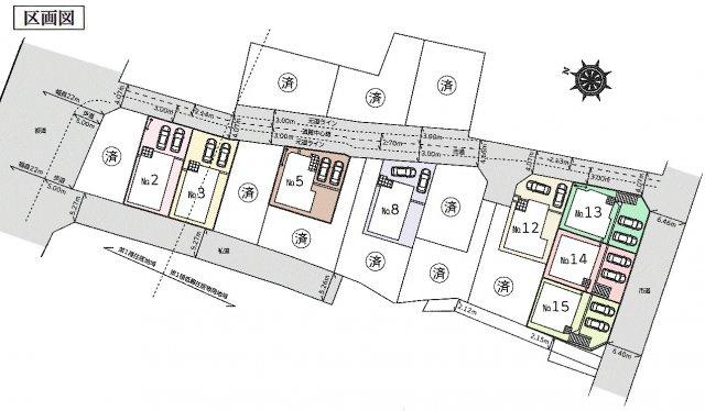 【区画図】あきる野市山田 新築戸建全18棟