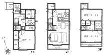 豊島区高田1丁目 新築戸建て 3号棟の画像