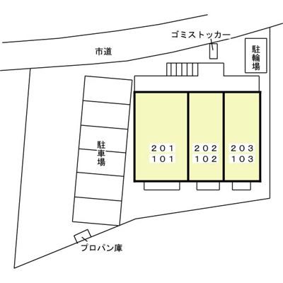 【区画図】ヴィラ ジラソーレ
