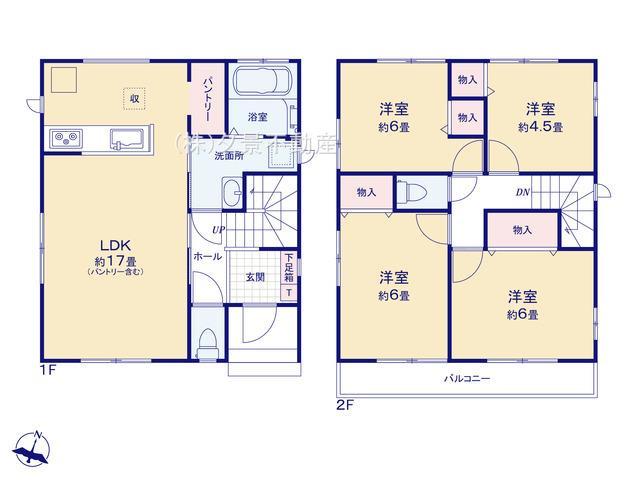 【区画図】桜区大字白鍬99-6(D号棟)新築一戸建てハートフルタウン