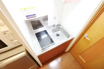 ラジエントヒーター2口設置。101号室はガスコンロ3口設置。