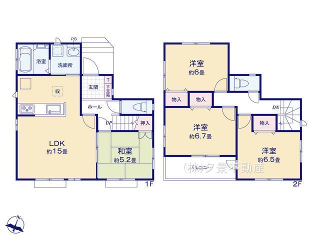 【区画図】桜区大字白鍬99-11(I号棟)新築一戸建てハートフルタウン