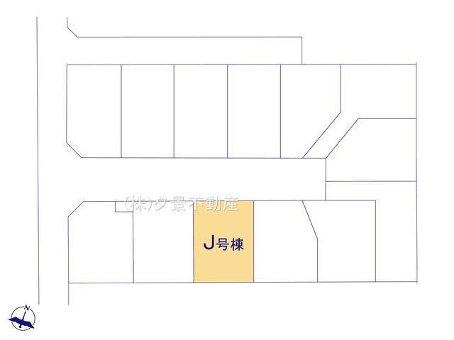 【区画図】桜区大字白鍬99-12(J号棟)新築一戸建てハートフルタウン