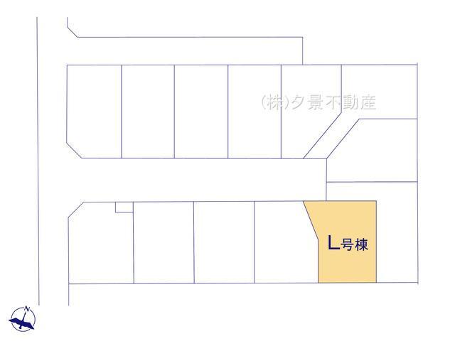 【区画図】桜区大字白鍬99-14(L号棟)新築一戸建てハートフルタウン