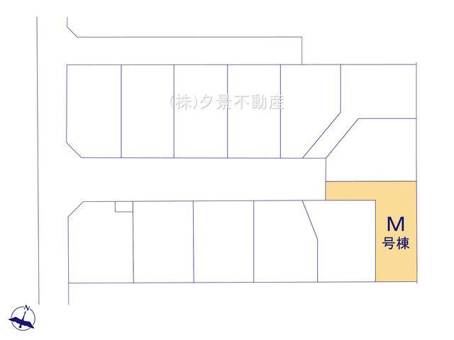 【区画図】桜区大字白鍬99-15(M号棟)新築一戸建てハートフルタウン