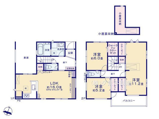 岩槻区本丸1丁目20−11(全1戸)新築一戸建てブルーミングガーデン