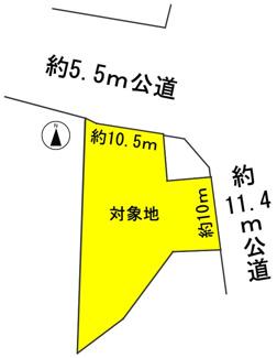 【区画図】57126 羽島郡岐南町野中土地