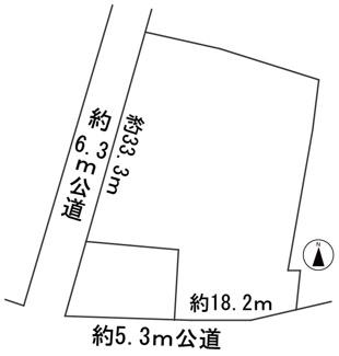 【区画図】57267 各務原市川島松倉町土地