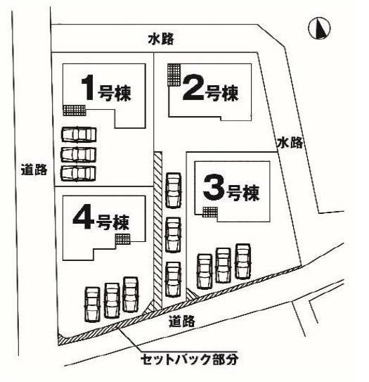 【区画図】高崎市貝沢町2期 2号棟/新築
