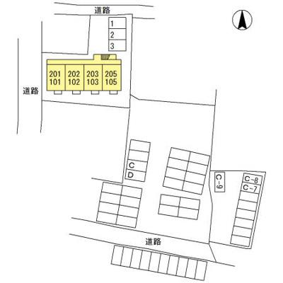 【区画図】倉賀野駅 倉賀野町 1DK 1階