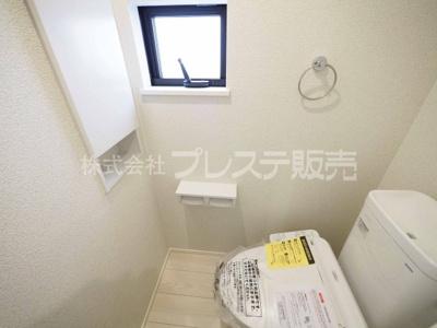 現地写真(2号地1階トイレ)温水洗浄便座を標準装備!