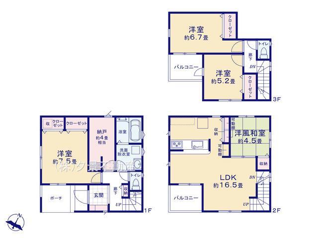 川口市戸塚東3丁目34-27(2号棟)新築一戸建てリーブルガーデン