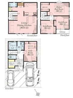 LDKは20帖の大空間!主寝室も9帖超の広さがあります!