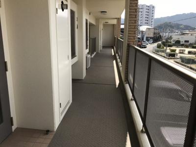 共用廊下です。